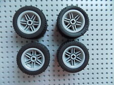 Yellow Wheel 30.4mm D LEGO x 2 x 20mm 56145 NEUF