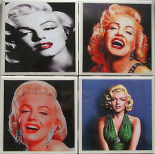 Personalized Natural Stone Ceramic Tile Drink Coasters - Set of 4 - Marilyn 2 A