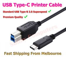 USB 3.1 Type-C USB-C to USB 3.0 Type-B Superspeed Cable Printer Scanner Cord AU