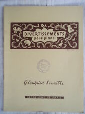 """PARTITION """" DIVERTISSEMENT pour PIANO """" COULPIED SEVESTRE HENRY LEMOINE"""