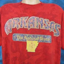 vintage 80s Arkansas The Natural State Buttery Soft T-Shirt Xl nature thin 90s