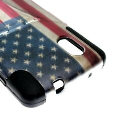 For LG Google Nexus 5 Case Hard Soft Dual Layer US Flag Hybrid Stand Cover