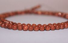 """Genuine Goldstone Gemstone Beads, round, 17.25"""" strand, 108 beads, 4mm"""