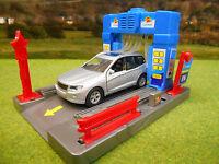 KIDS GLOBE GARAGE CAR WASH WITH LIGHT & SOUND & DIECAST CAR 1/43