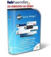 WordPress WP SOCIAL WIDGET - Timeline Autor EMail Block Produkt PopUp MRR Lizenz
