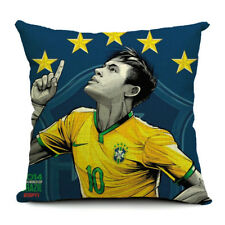 Square Cotton Linen Cushion with insert - Neymar Brazil Soccer star