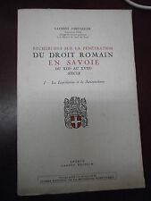 Chevailler Recherches sur pénétration du droit romain en Savoie 13è/16è siècle