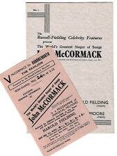 1942 FLYER & PROGRAME John McCormack Gerald Moore Bournemouth Pavilion Fielding