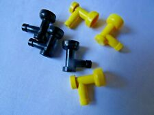 LEGO PART 4599A BLACK AND YELLOW 1 x 1 TAPS x 6 TOTAL