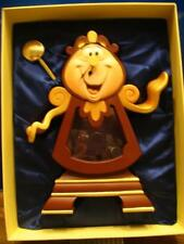 DISNEY BEAUTY AND THE BEAST COGSWORTH CLOCK NEW LE 1500 RARE