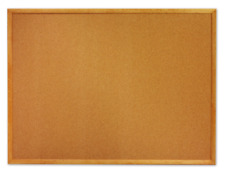 Quartet Cork Bulletin Board - Oak Finish Frame 2 X 3 Feet MWDB2436M