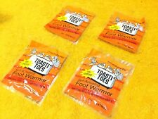 **NEW** LOT OF (4) PAIRS HEATMAX 6 HOUR TOASTI TOES SELF ACTIVATING FOOT WARMERS