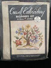 Vintage Elsa Williams Crewel Embroidery Kit Jacobean Design