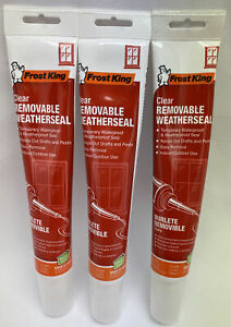 Frost King Removable Weatherseal /NEW - Lot of 3