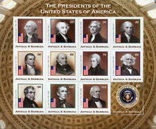 Antigua & Barbuda Stamps 2018 MNH US Presidents Washington Jefferson 12v M/S I