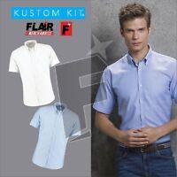 Kustom Kit Men's Shirt Sleeve Slim Fit Shirt
