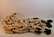 chotki, rope, komboskini, rosewood, garnet stone, with cross 50 prayer white