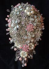 ❤ da sposa Rosa Spilla Perla Matrimonio Bouquet doccia a goccia cristalli scintillanti