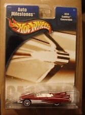 2001 MATTELL Hot Wheels 1959 CADILLAC CONVERTIBLE AUTO MILESTONES DIECAST CAR