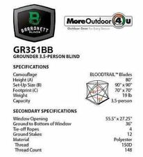 "GR351BB NEW Barronett Blinds BLOOD TRAIL GROUNDER HUB BLIND 80"" X 90"""