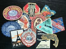 BB82:Vintage images of  Luggage,Hotel, Travel,Vacation  -Die Cuts Scrapbooking