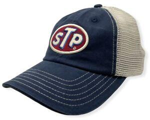 STP Supreme Motor Oil Men's Official Licensed Vintage Wash Trucker Hat Cap