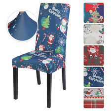 US Dining Chair Cover Party Slipcovers Cover Seat Xmas Banquet Party Christmas