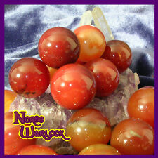 3 Carnelian Sphere Crystal Balls for Motivation Courage Confidence! Metaphysical
