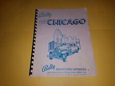 1976 Original Bally Old Chicago Pinball Machine Game Manual