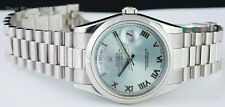 ROLEX - 36mm Glacier Roman Men's PLATINUM President Model 118206 - SANT BLANC