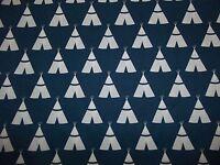 Handmade cotton fitted crib sheet TeePees /Dark Blue.White,Neutral