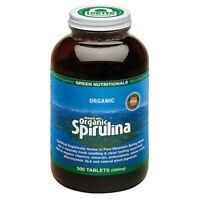 Green Nutritionals Mountain Organic Spirulina Tablets (500mg) 500 Supplements