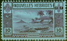 More details for new hebrides 1938 10f violet-blue sg63 fine very lightly mtd mint