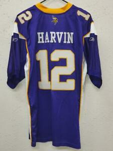 Reebok Authentic NFL Jersey Minnesota Vikings Percy Harvin Purple sz 54