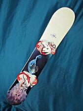 Burton TROOP women's snowboard all mountain ride 151cm with DRAKE Lady bindings~