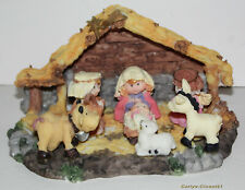 "CERAMIC NATIVITY SCENE FIGURINE * Christmas * 6"" (15cm) Long * Xmas *"