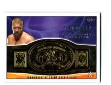 WWE Triple H 2015 Topps IC Championship Commemorative Belt Plate Relic Card