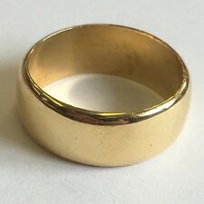 Vintage Solid 22ct Solid Gold Wedding Band / Ring 7g Size K1/2 1967 7.3mm