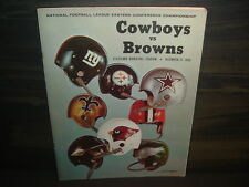 1968 Cleveland Browns vs. Dallas Cowboys NFL Eastern Conf. Championship Program