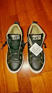 boys black leather converse baseball boots new no box size uk 3 euro 35