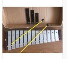 More details for wood & metal xylophone glockenspiel 13 keys notes c-a + 3# keys & mallets new