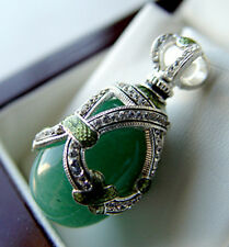 SALE !  BEAUTIFUL PENDANT made of STERLING SILVER 925 with GENUINE JADE