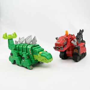 Dreamworks Dinotrux Chomping Garby talking & Dino TY Rux Lot of 2