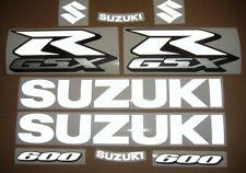 GSXR 600 reflective custom white decals stickers graphics kit set k1 k3 k5 k7 k9
