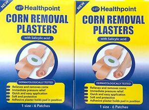 Corn pad PLASTER Medicated Plasters Removal Foot UK Dispatch 1 ,2 BOX 6 In Pack