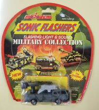 VINTAGE MAJORETTE SONIC FLASHERS DIECAST MILITARY MISSILE LAUNCHER TRUCK TOY(1C)