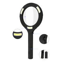 COB LED Vergrößern Licht Lupe Handlupe Lampe Rutschfest Beleuchtung Geschenk DE