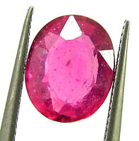 2.50 Ct Natural Certified Ruby Loose Gemstone Oval Cut Mozambique Stone - 133097