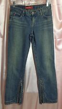 MISS SIXTY Basic Italy Skinny Capri Jeans Zipper Hems Sz 25 NWOT Display model