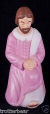 "Vtg Joseph 17"" Blow Mold Mini Table Top Christmas Nativity Outdoor Display"